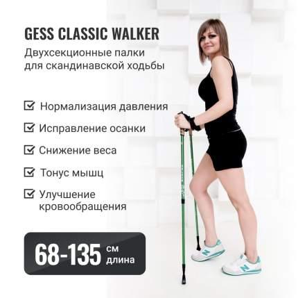 Палки для скандинавской ходьбы Gess Classic Walker трехсекционные