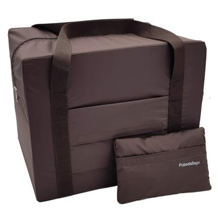 Дорожная сумка Pobedabags Эко-Лайт коричневая 36 x 30 x 27 см