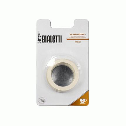 3 уплотнителя + фильтр для кофеварки Bialetti BRIKKA 2