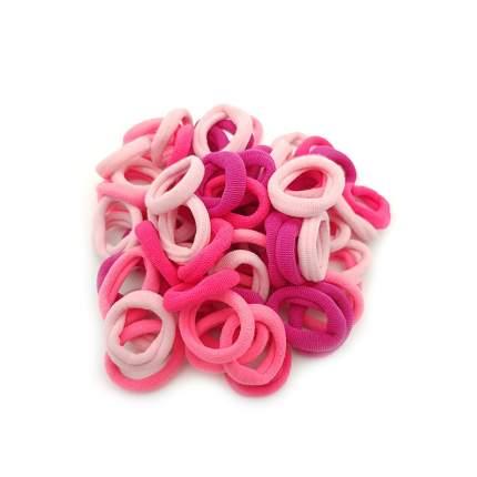 Комплект резинок для волос для девочки 70 шт, розовый