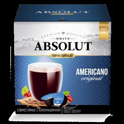 Кофе Absolut Drive Americano Original в капсулах для кофемашины Dolce Gusto 16 капсул
