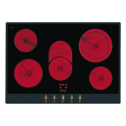 Встраиваемая варочная панель электрическая Smeg P875A Black