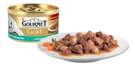 Консервы для кошек Gourmet Gold, лосось, 24шт, 85г