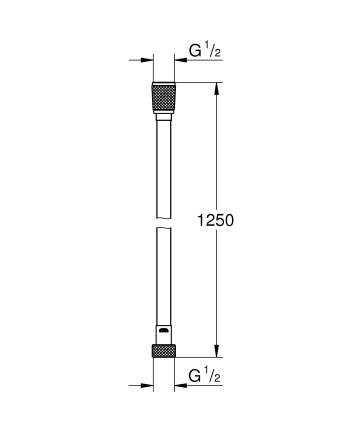 Душевой шланг Grohe Silverflex 26335000
