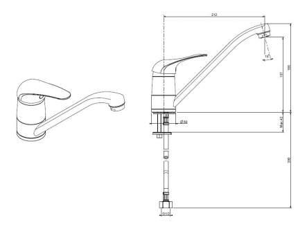 Смеситель для кухонной мойки Florentina FL-01 33.51L.1110.107 песочный