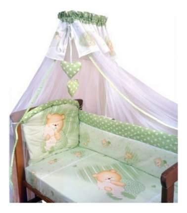 Комплект в кроватку Золотой гусь Мишутка зеленый