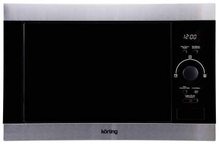 Встраиваемая микроволновая печь Korting KMI 825 XN Silver/Black