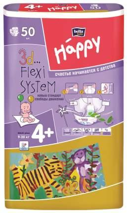 Подгузники Bella Baby Happy Maxi Plus 4+ (9-20 кг), 50 шт.