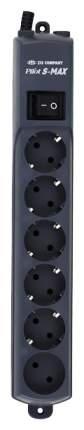 Сетевой фильтр Pilot S-Max, 6 розеток, 1,8 м, Black