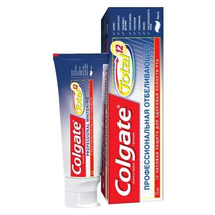 Зубная паста Colgate TOTAL12 Профессиональная отбеливающая 75мл