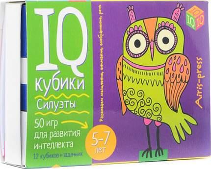 Умные кубики Айрис Силуэты. 50 игр для развития интеллекта. (25439)