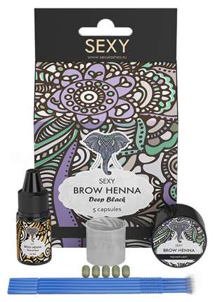 Краска для бровей Sexy Brow Henna Черная хна