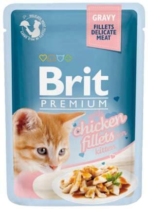 Влажный корм для котят Brit Premium, курица, 85г
