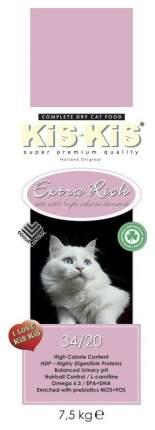 Сухой корм для кошек KiS-KiS Extra Rich, домашняя птица, 7,5кг