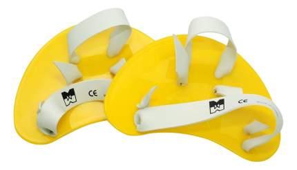 Лопатки для плавания Malmsten Finger Paddles желтые/белые