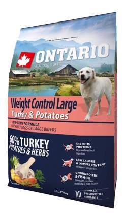 Сухой корм для собак Ontario Weight Control Large, индейка, 2.25кг