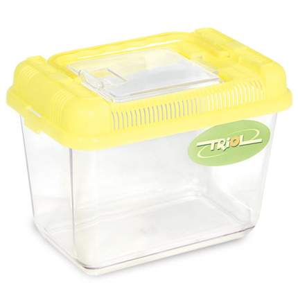 Переноска для грызунов Triol желтый пластик 18.5x11.8x13.5 cм