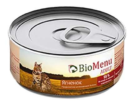Консервы для кошек BioMenu Adult, паштет с ягненком, 100г