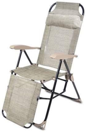 Кресло-шезлонг НИКА 3 складное с подножкой КШ3 Ротанг