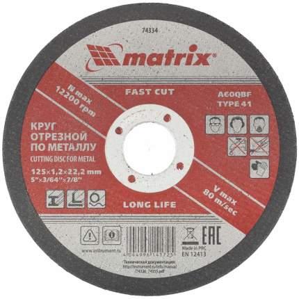 Диск отрезной абразивный MATRIX 74334
