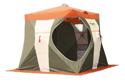 Палатка-автомат Митек Нельма Куб двухместная оранжевая/зеленая/серая