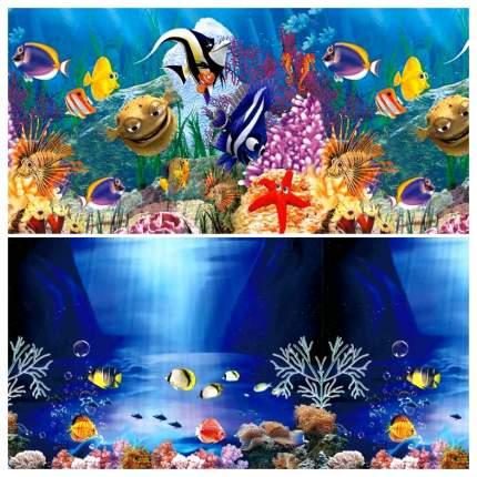 Фон для аквариума Laguna подводный рельеф 150x30