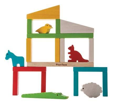 Конструктор деревянный PlanToys Построй зоопарк