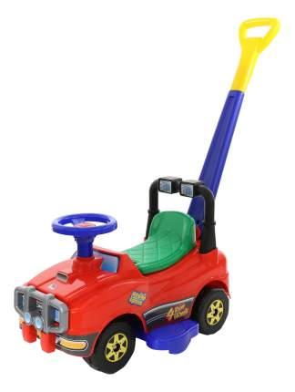 Каталка-машинка Джип с ручкой и гудком на колесах Полесье 2918