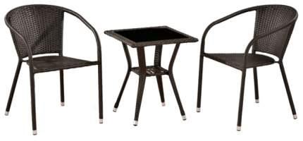 Комплект мебели Afina Garden T25A/Y137C-W53 Brown (2+1)