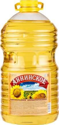Масло подсолнечное рафинированное дезодорированное Аннинское вымороженное 5 л
