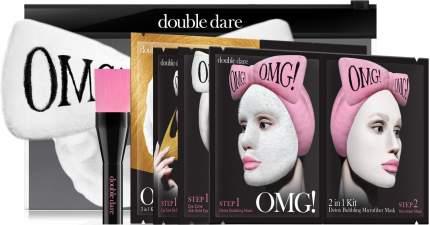 Тканевая маска Double Dare OMG! Набор SPA из 4 масок, кисти и белого банта