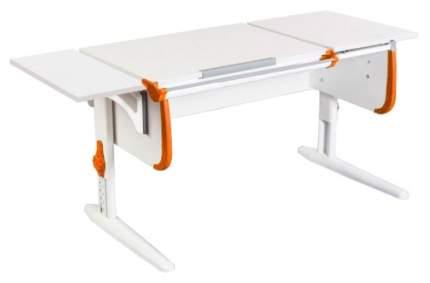 Парта Дэми White Стандарт СУТ-24-01К С боковой приставкой Белый/Оранжевый