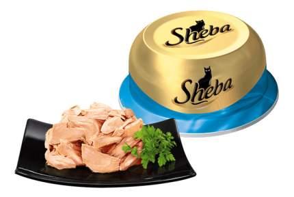 Консервы для кошек Sheba Classic сочный тунец в нежном соусе, 12 шт по 80г
