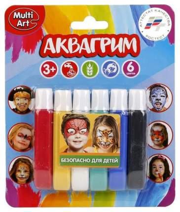 Краски для лица Multi Art 12019-R 6 цвета