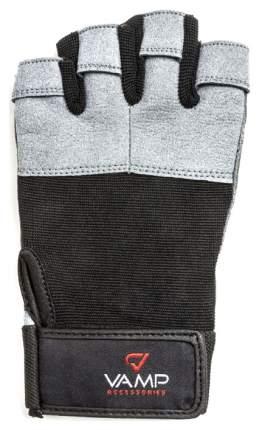 Перчатки для тяжелой атлетики и фитнеса VAMP 530, серые, XL
