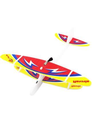 Детский летающий самолет Kids Choice с моторчиком желтый 27см