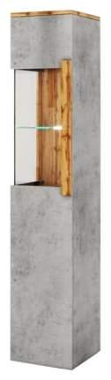Платяной шкаф МФ Мелания MEL_2007 199,5х48,8х39,5, бетон чикаго/дуб вотан