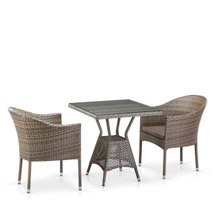 Комплект плетеной мебели Afina T706G/Y350G-W1289 2Pcs Pale