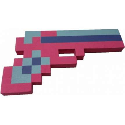 """Игровой набор """"Пистолет Пиксельный"""" розовый 24см"""