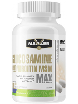 Maxler Glucosamine Chondroitin MSM MAX 90 tabs (90 таб.)