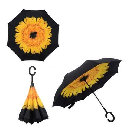 Зонт-трость UpBrella желтый цветок