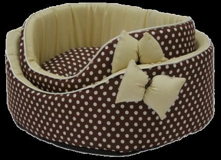 Лежак для собак и кошек Xody Премиум №1, хлопок, коричневый, 42х3см5х16