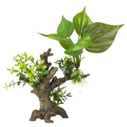 Искусственное растение для аквариума AQUA DELLA Florascape 6, 16,5х9х14,5 см