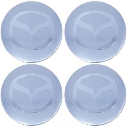 Наклейки на диски литые с логотипом автомобиля Мазда 12050010 D-56 мм серебристые