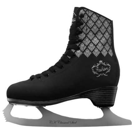 Коньки фигурные Fischer Fashion Lux Black черные, 35