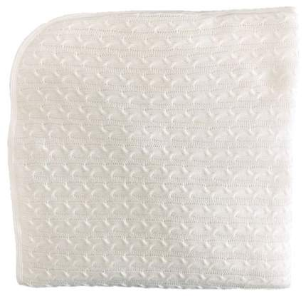 Одеяло-плед вязанный Mam Baby Колосок 95x95 белый