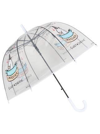 Зонт-трость МихиМихи Единорог Sweet Dreams прозрачный купол, белый