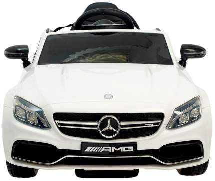 """Электромобиль """"MERCEDES-BENZ C63 S AMG"""", окраска белый, EVA колеса Sima-Land"""