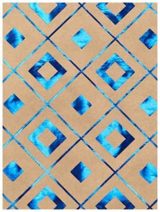 """Бумага крафт """"Синяя геометрия"""", 60 г/м2, 100х70 см"""