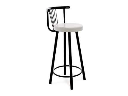 Мягкий барный стул для кухни Амис Барный Стиль Белый
